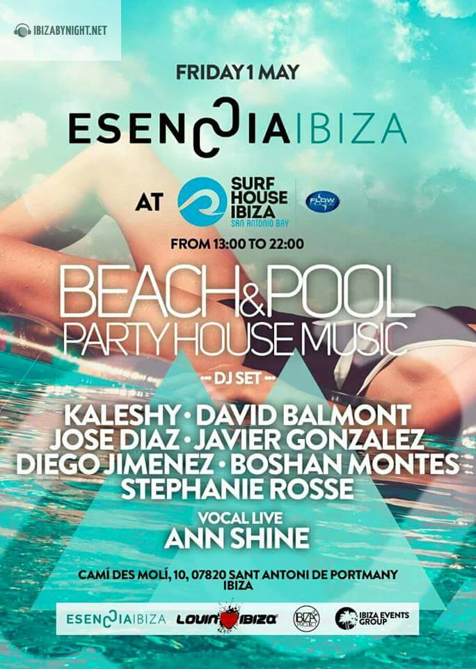 1st of may essence ibiza presents beach pool party for House music party